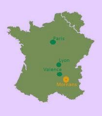 Kaart Frankrijk 8